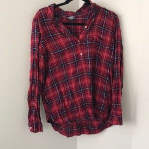 Aerie long sleeve 3/4 button flannel